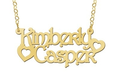 Names4ever Kimberly-Casper Stijl Gouden Naamketting