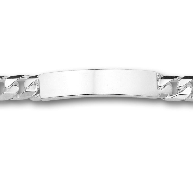 Robuuste Graveer Armband Gourmet 9 mm   Lengte 21 cm