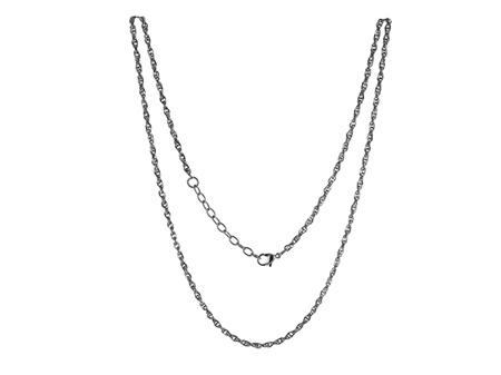 LOCKits Zilverkleurig Edelstalen Heli Twist Collier 45cm