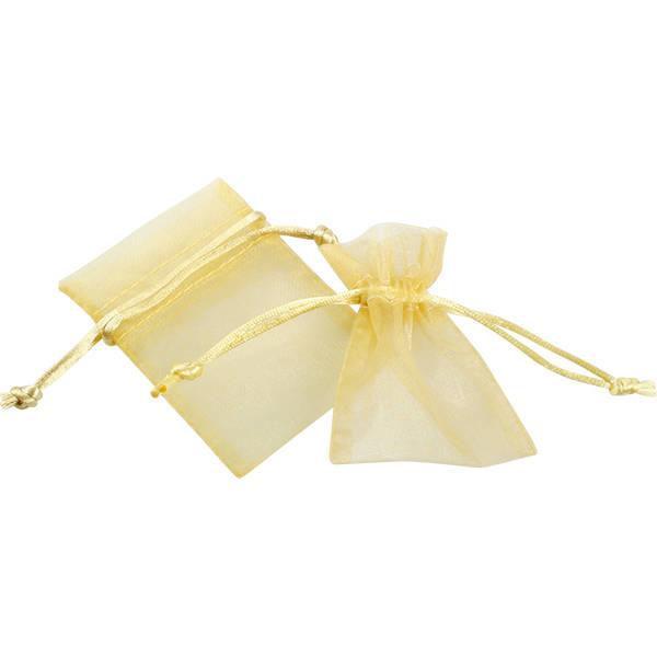 Organza zakje, mini in goudkleur