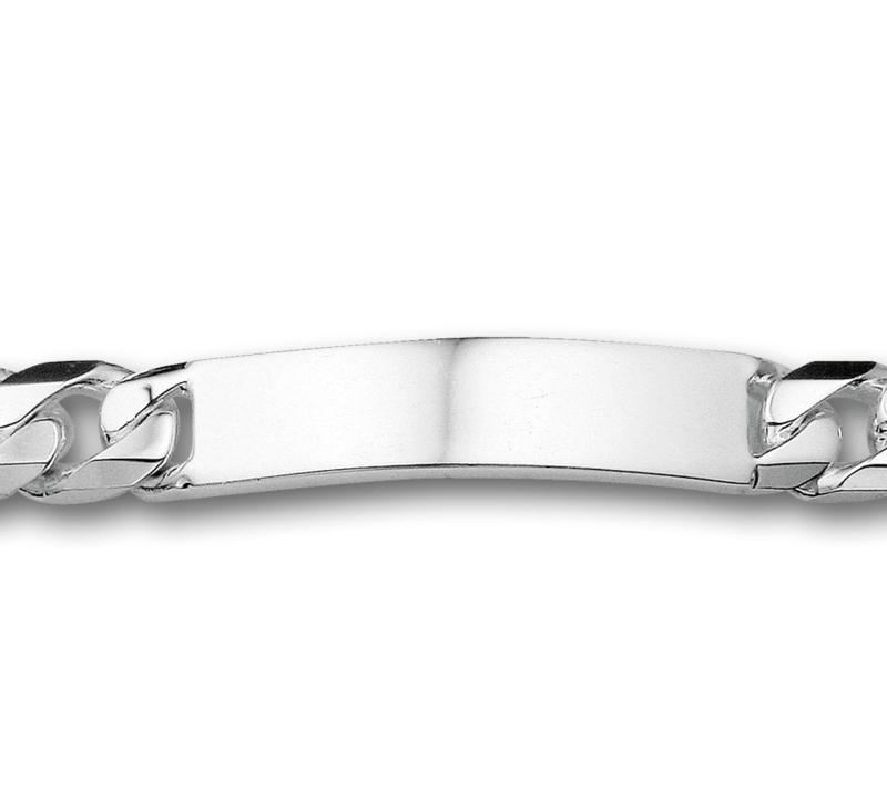 Elegante Heren Graveer Armband van Zilver