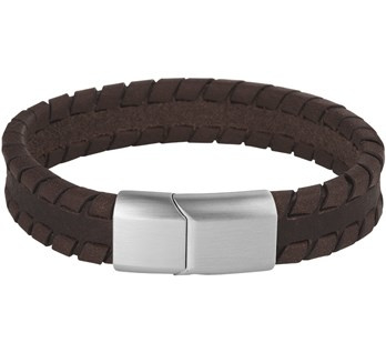 Leren Armband Donkerbruin 12 mm / Lengte 19 cm | Graveren mogelijk!