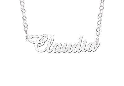 Names4ever Claudia Stijl Zilveren Naamketting