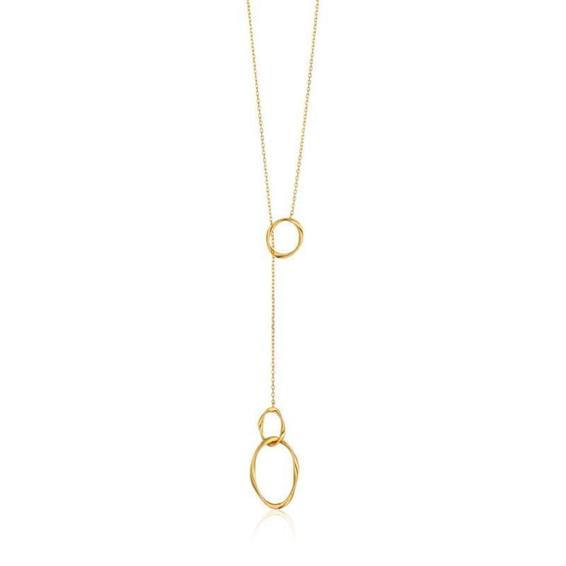 Goudkleurige Swirl Nexus Necklace van Ania Haie