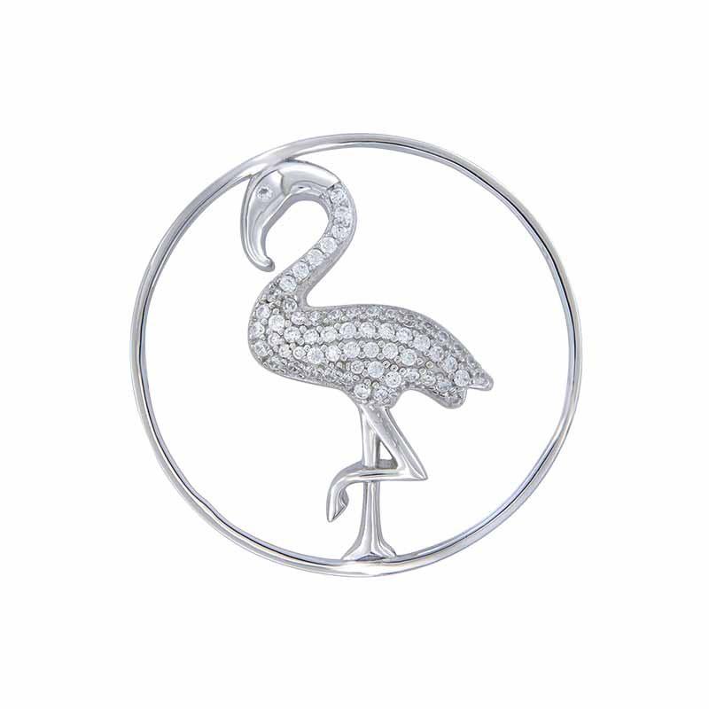 Zilveren Flamingo 33mm Insignia met Zirkonia's van MY iMenso
