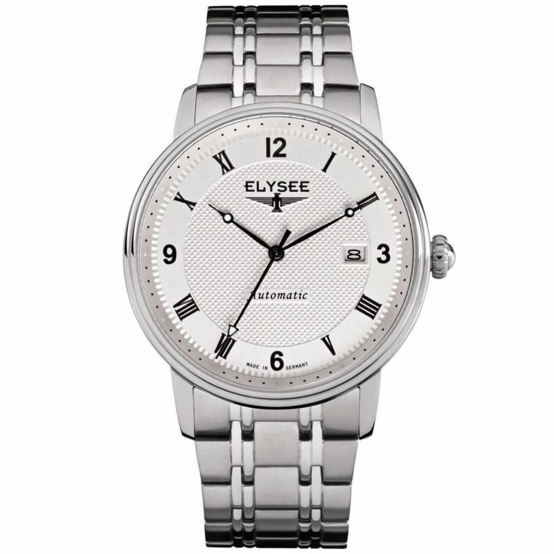 Zilverkleurig Monumentum Heren Horloge van Elysee
