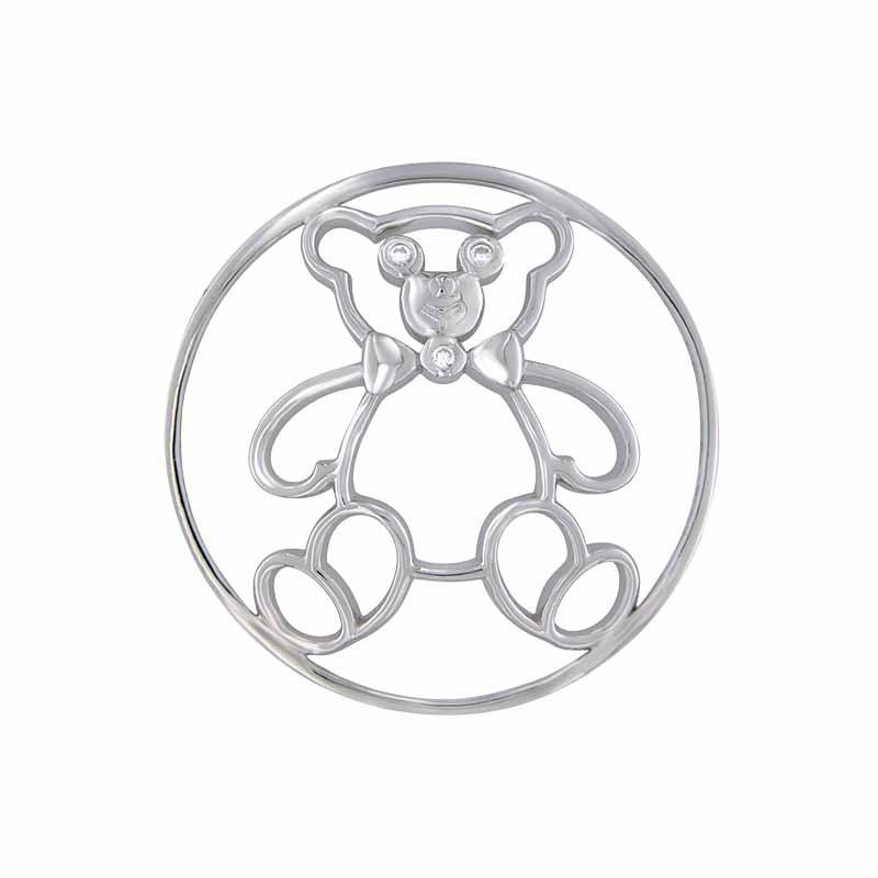 Zilveren Toy Bear 33mm Insignia van MY iMenso