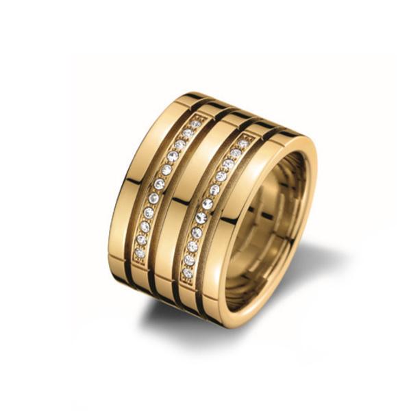 Goede Tommy Hilfiger Goudkleurige Ring met Zirkonia's DO-46