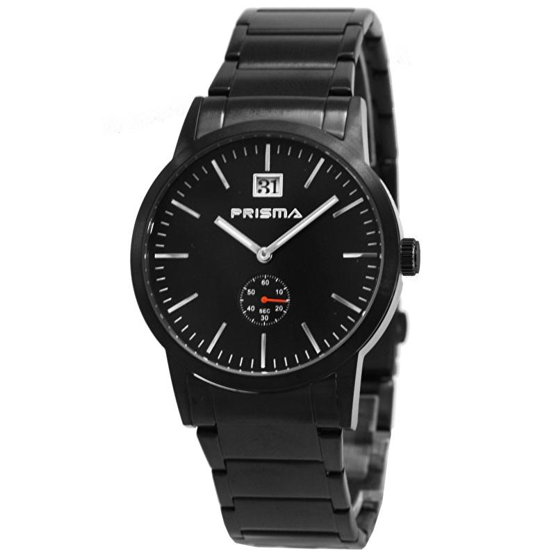 Prisma Zwart Heren Horloge P.2280