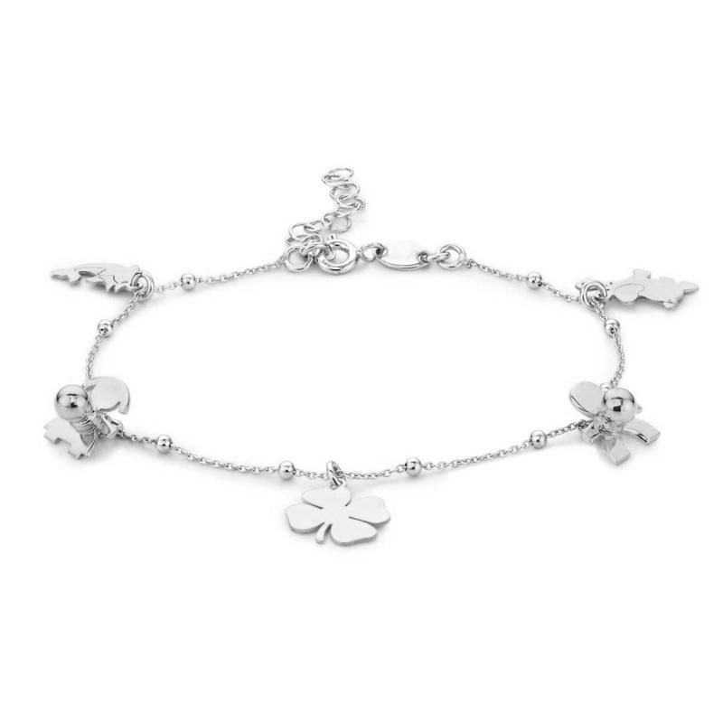 Super Stylish Zilveren Armband met Bedels
