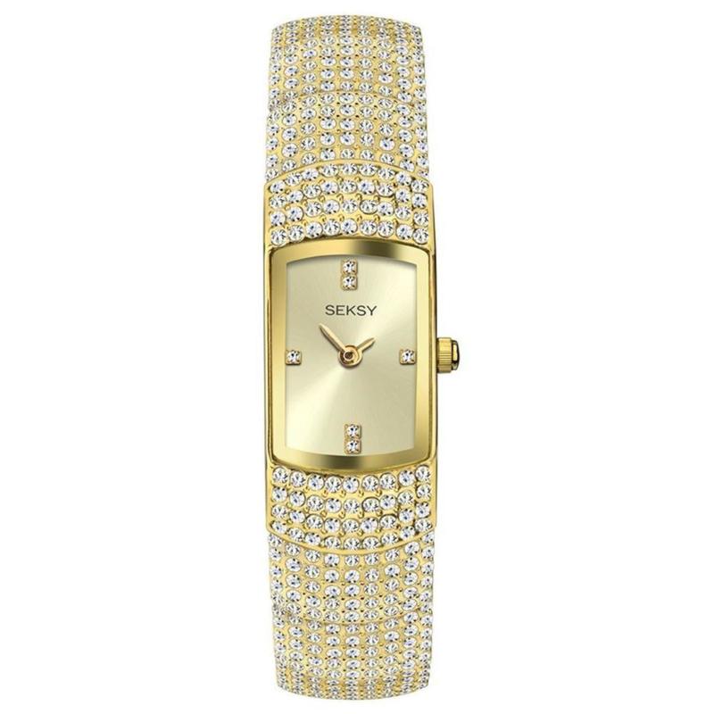 Sekonda SEKSY Goudkleurig Dames Horloge met Zirkonia's