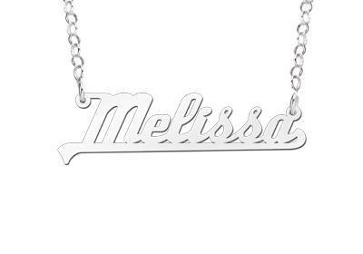 Names4ever Melissa Stijl Zilveren Naamketting