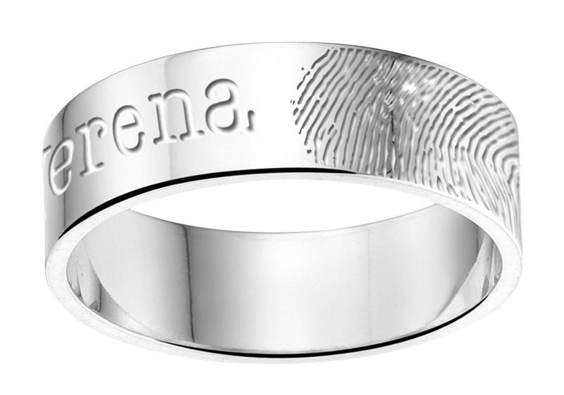 Vingerafdruk Ring + Naam van Names4ever