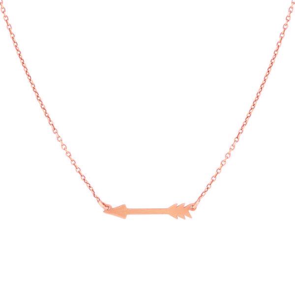 Super Stylish Roségoudkleurige Ketting met Pijl Hanger