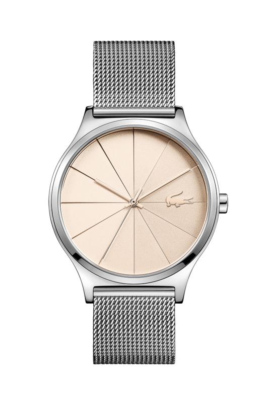 Lacoste Zilverkleurig Nikita Dames Horloge met Milanese Horlogeband