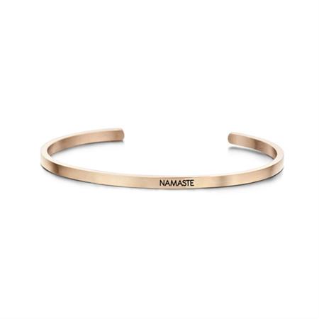 Roségoudkleurige 'Namaste' Bangle Armband van Edelstaal