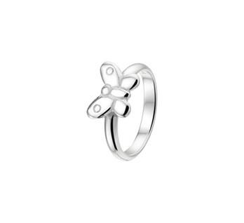 Zilveren Vlinder Ring voor Kinderen / Maat 13