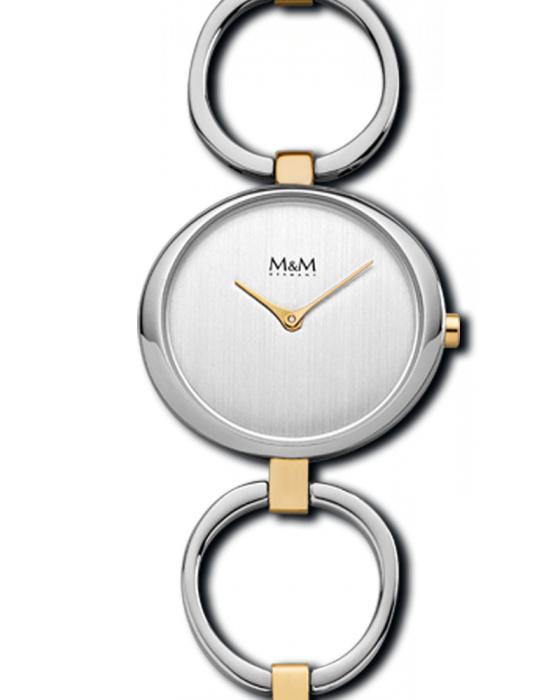 Abstract M&M Horloge voor Dames met Goudkleurige Elementen