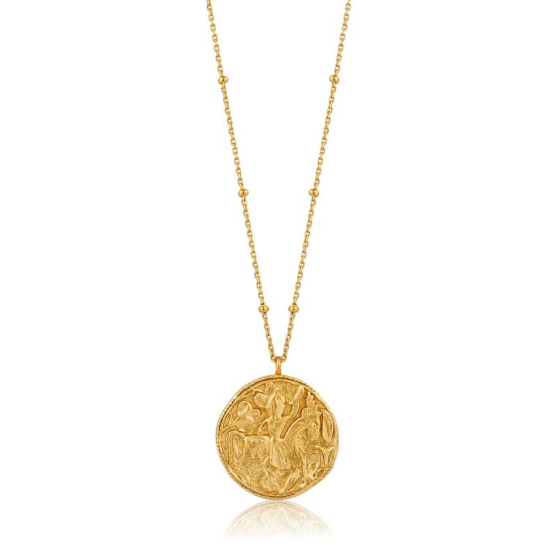 Goudkleurige Geometry Greek Warrior Necklace van Ania Haie