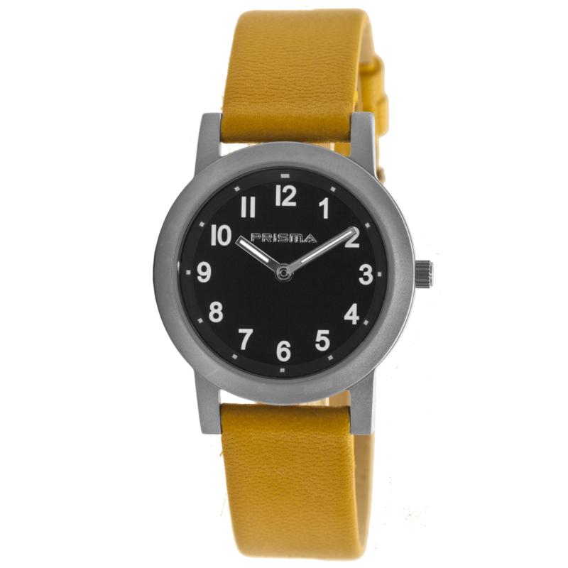 Prisma Titanium Dames Horloge met Oker Horlogeband