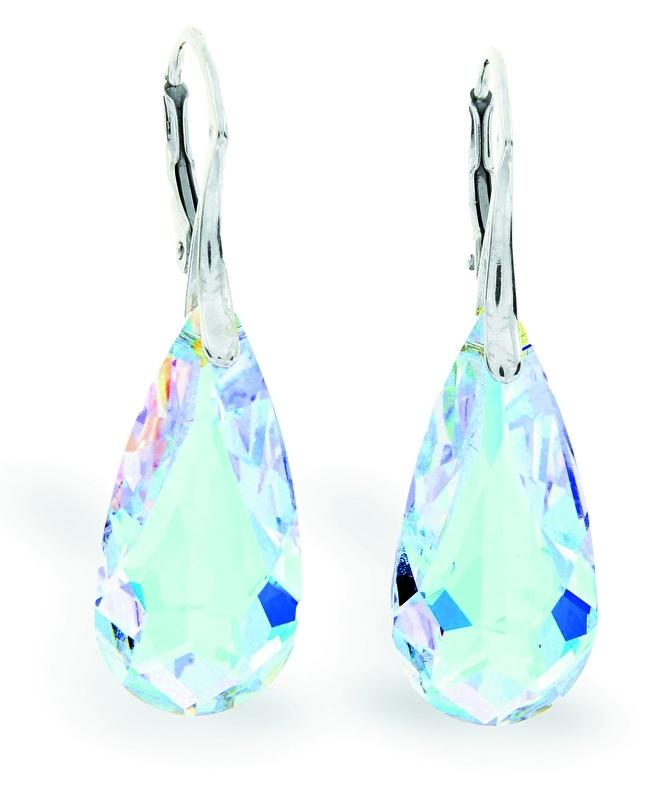 Teardrop Glaskristallen Oorhangers van Spark Jewelry