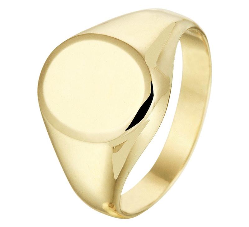 Gediamanteerde Gouden Dames Zegelring | Kies je eigen letter