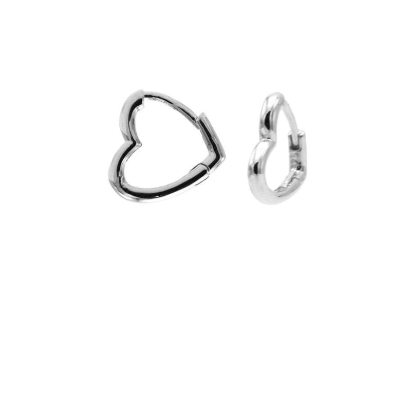 Zilveren Hartvormige Oorringen 11MM | Karma Jewelry