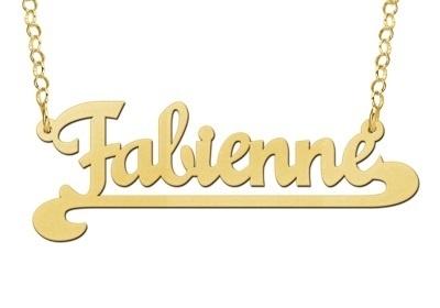 Names4ever Fabienne Stijl Gouden Naamketting
