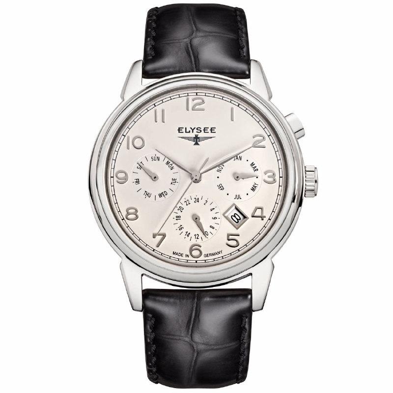 Elysee Vintage Calendar EL.80555 Heren Horloge