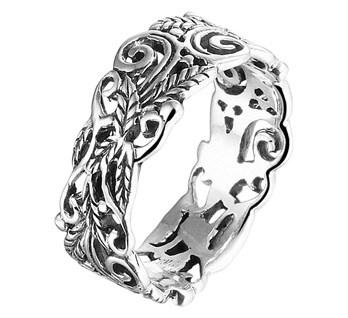 Bloemen Decoratie Ring / Maat 18
