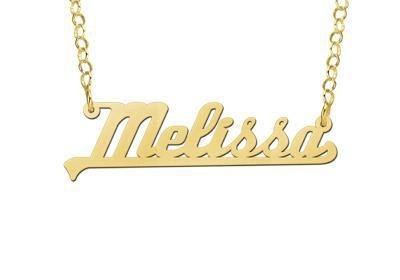 Names4ever Melissa Stijl Gouden Naamketting