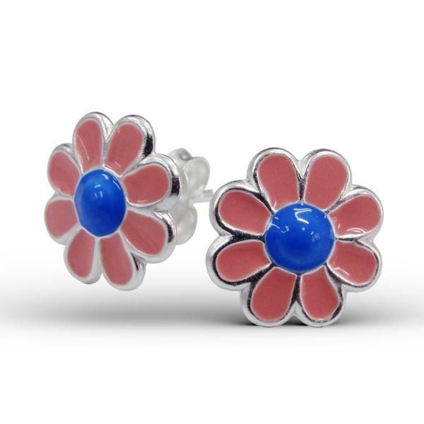 Roze bloempje oorbellen IB3722