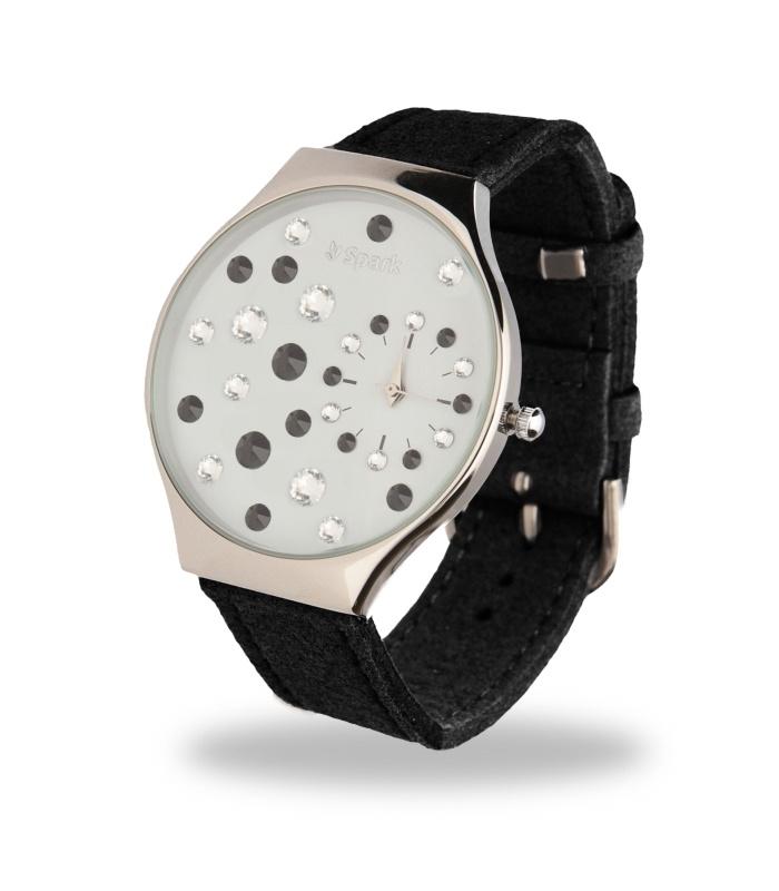 Ladybird Horloge met Brede Zwart Lederen Horlogeband van Spark