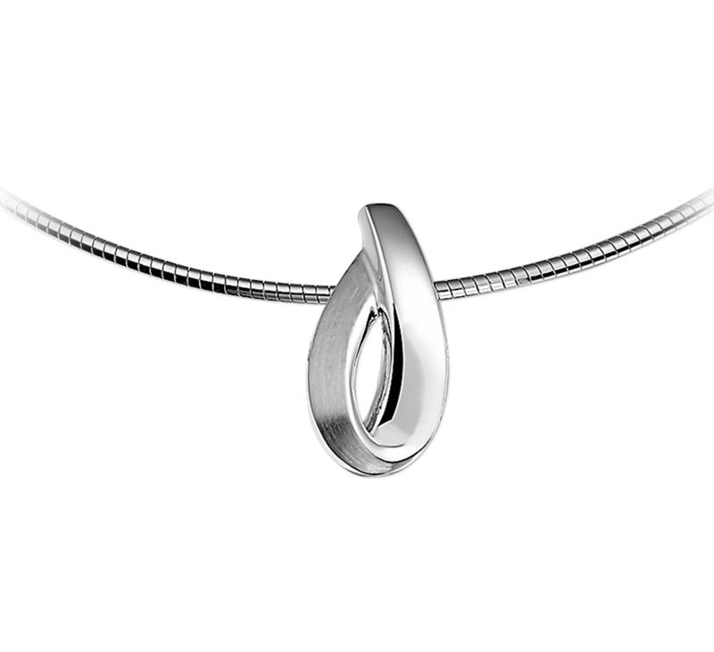 Druppelvormige Hanger van Zilver