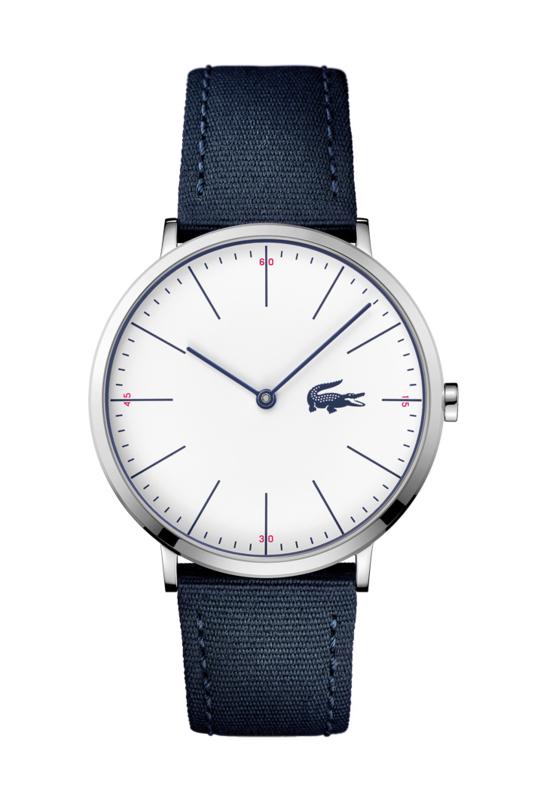 Lacoste Moon Heren Horloge met Donkerblauwe Textiel Band