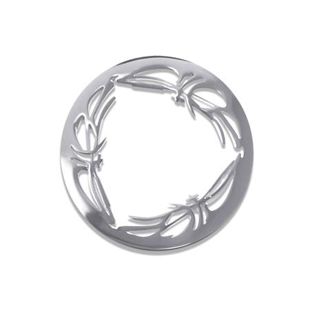 LOCKits Zilverkleurige Frame Munt van Edelstaal 25mm