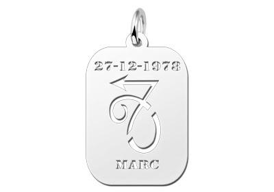 Names4ever Astrologie Steenbok Zilver Hanger ZHS010