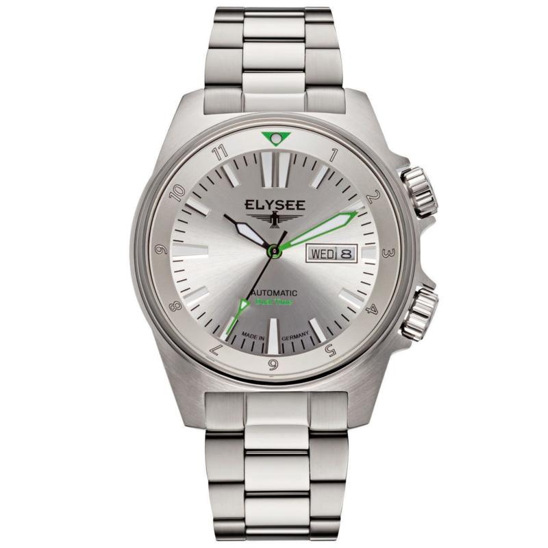 Dual Timer Heren Horloge met Groene Wijzers