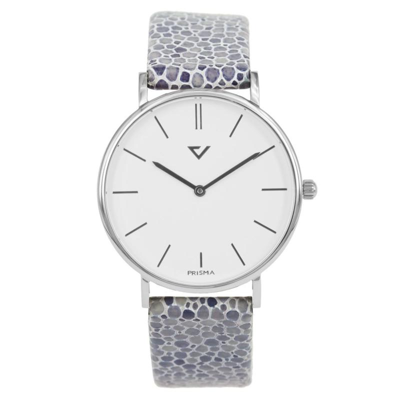 Prisma Zilverkleurig Dames Horloge met Stijlvolle Band