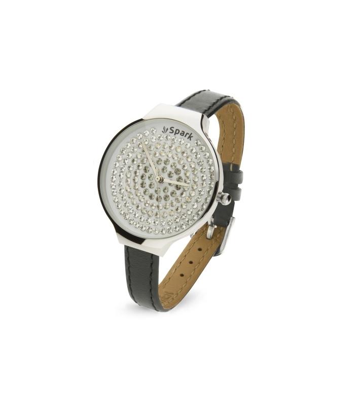 Spotty Horloge met Grijs Lederen Horlogeband van Spark