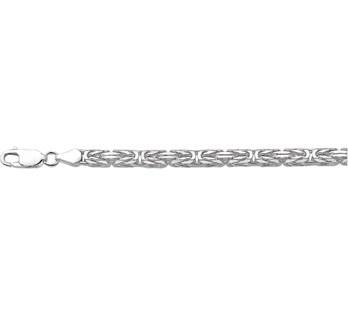 Zilveren Konings 5,0 mm Heren Schakelarmband