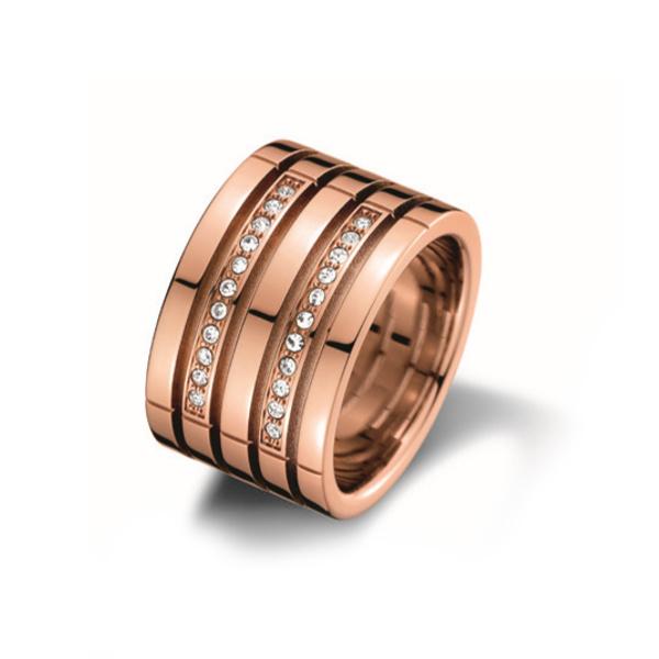 Tommy Hilfiger Roségoudkleurige Ring met Zirkonia's TJ2701028E
