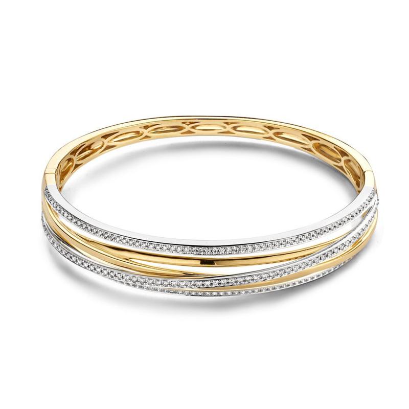 Excellent Jewelry Bicolor Armband met 1,03 crt. Briljant