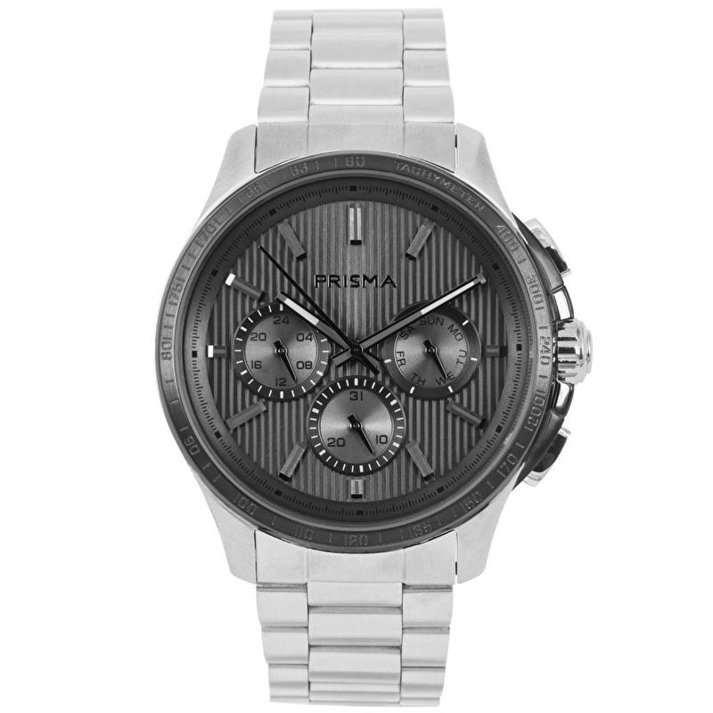 Prisma Heren P.1640 Multifunctie Horloge Edelstaal 5 ATM