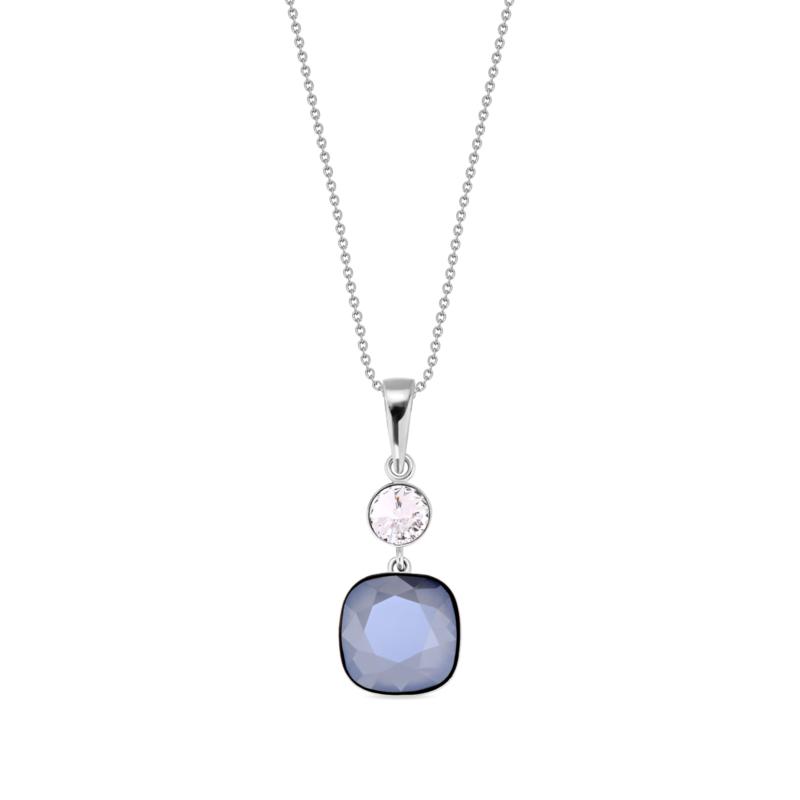 Anabele Ketting met Vierkant Donkerpaars Glaskristal
