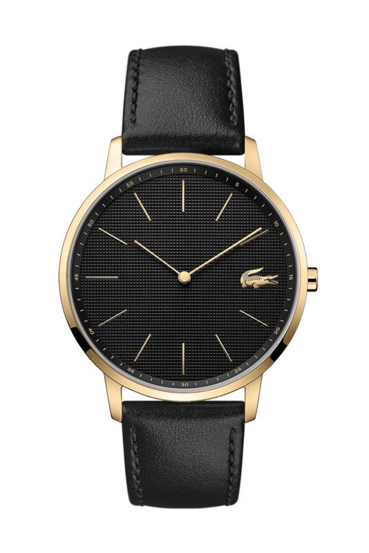 Lacoste Goudkleurig Moon Heren Horloge met Zwarte Wijzerplaat