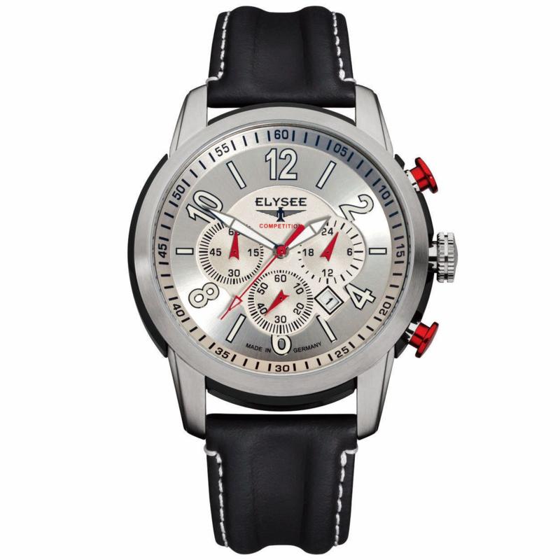 Zilverkleurig Race Horloge voor Heren van Elysee