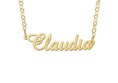 Names4ever Claudia Stijl Gouden Naamketting