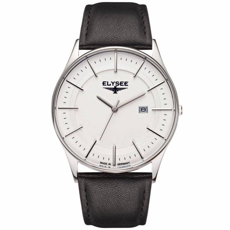 Diomedes Heren Horloge met Zwart Lederen Horlogeband