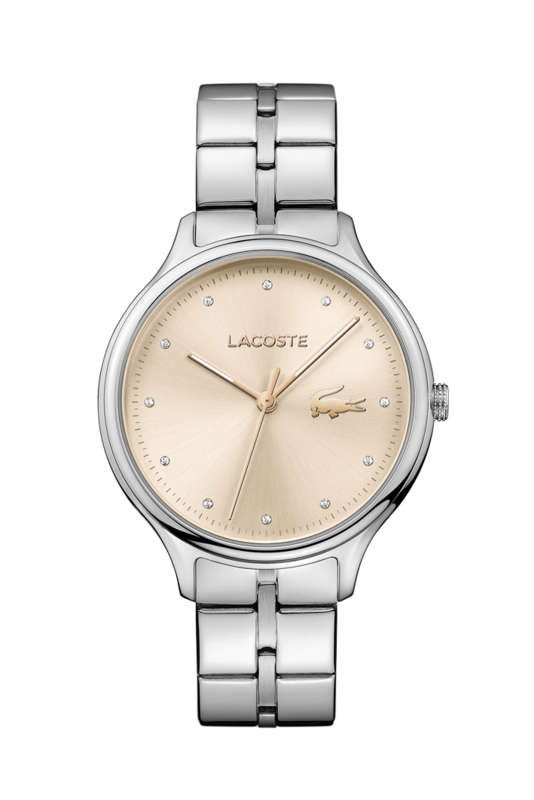 Lacoste Constance Dames Horloge met Edelstalen Schakelband